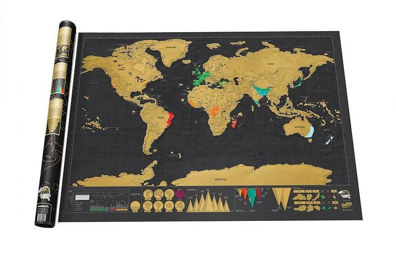 Carte du monde à gratter noire de luxe, livraison gratuite, meilleur décor, fournitures de papeterie scolaires et de bureau