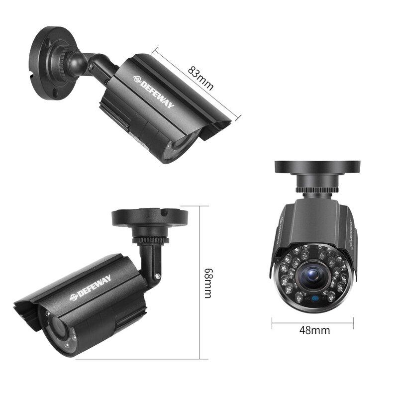 DEFEWAY 1080N DVR 1200TVL 720P HD 야외 홈 보안 카메라 시스템 4CH CCTV 비디오 감시 DVR 키트 4Pcs AHD 카메라 세트