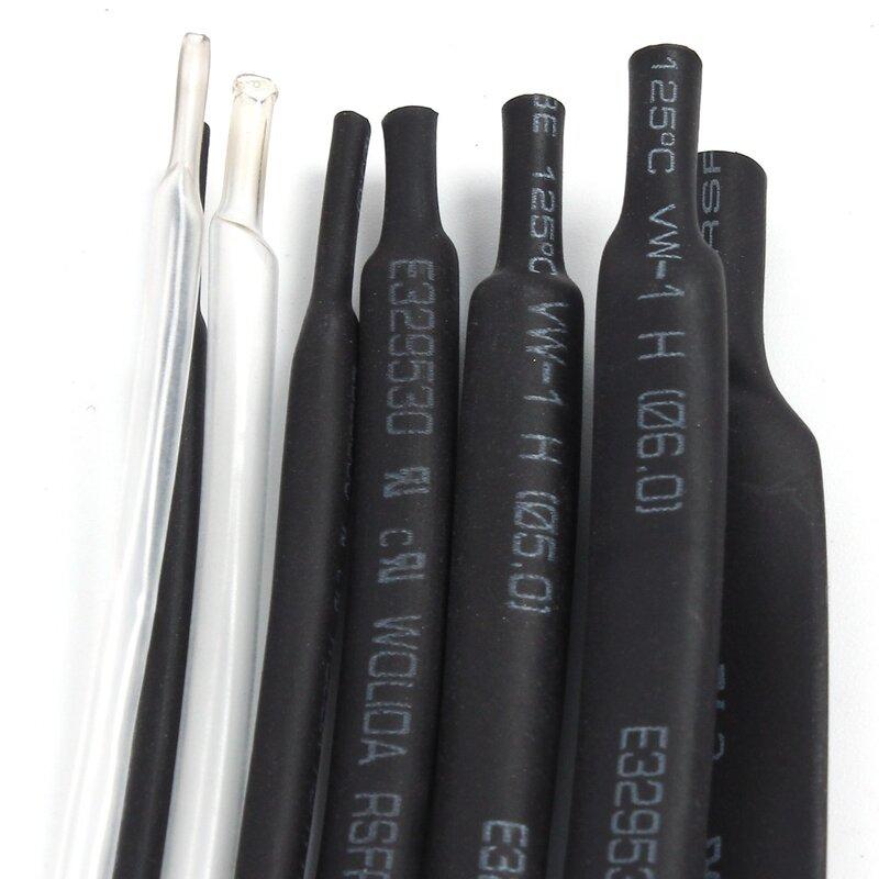 1mm 1 metro 8 tipos/tipo termorretráctiles tubos paquete Tubo Termocontraíble tubo 2-8 componente negro blanco