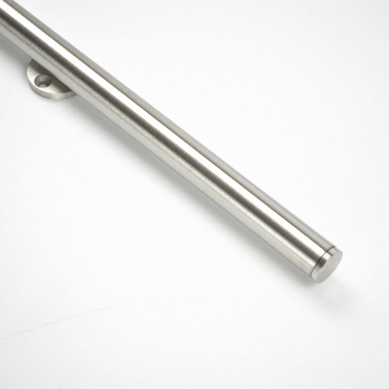 DIYHD باب انزلاقي من الفولاذ المقاوم للصدأ ، حامل علوي ، أجهزة ، بكرة مزدوجة الرأس ، لباب مفرد/مزدوج