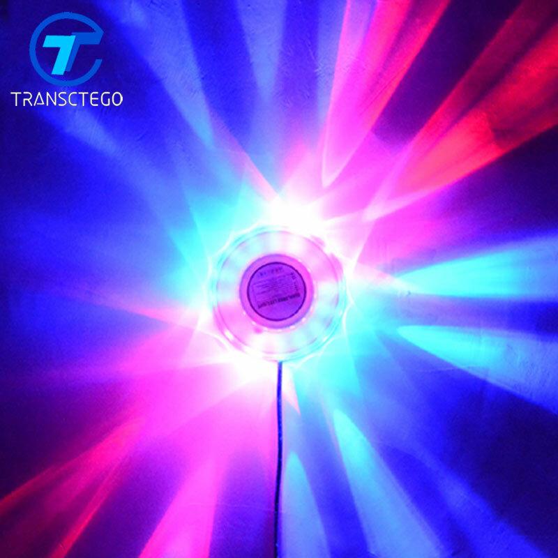 Ractego-48 مصباح Led صغير ليزر ديسكو ، مصباح حائط Led ، ضوء عباد الشمس ، DJ ، خلفية الصوت ، مصباح الحفلة