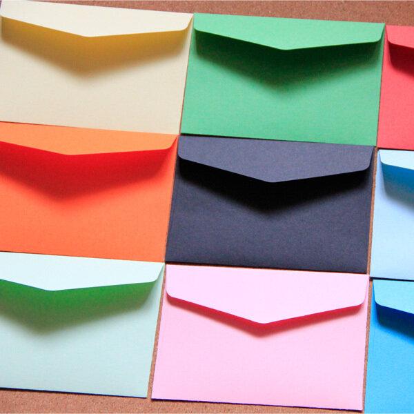 Buste colorate 11x8cm 13 buste di carta a colori 100 pezzi buste personalizzate per carte di credito/tessera