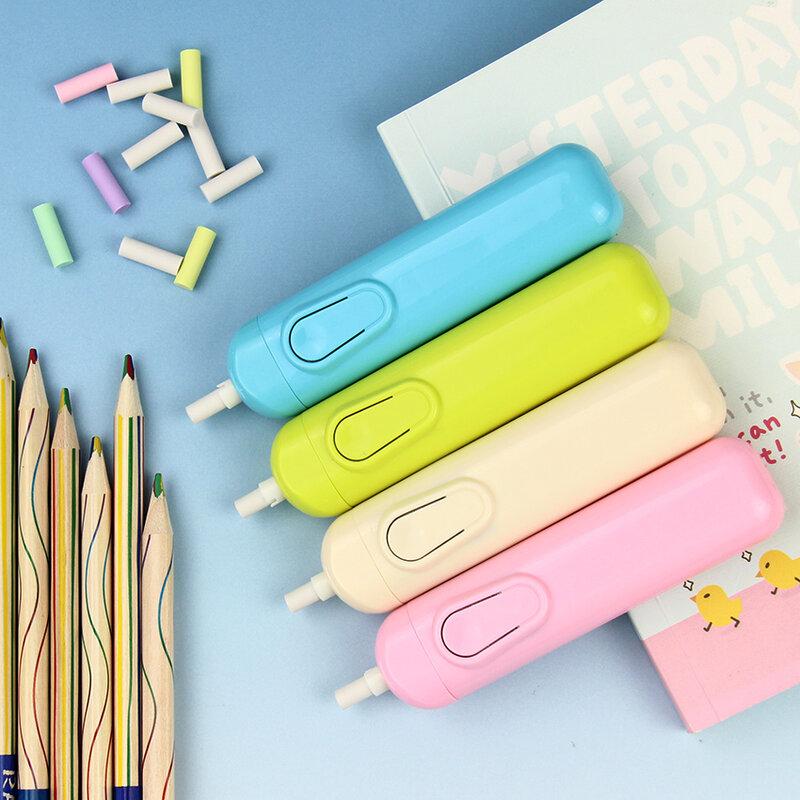 Kit d'effaceur électrique automatique 4 couleurs, fournitures scolaires, papeterie cadeau avec 20 recharges, 1 pièce
