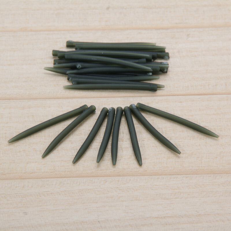 30 pz Terminale Carpa Pesca Manicotti Anti-Groviglio Collegare con Gancio di Pesca 53mm Pesca Alla Carpa Affrontare Strumento di Pesca