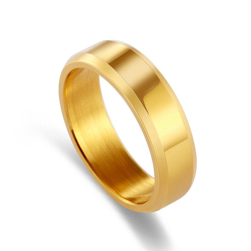 خاتم زواج للرجال, قطعة واحدة من الفولاذ المقاوم للصدأ