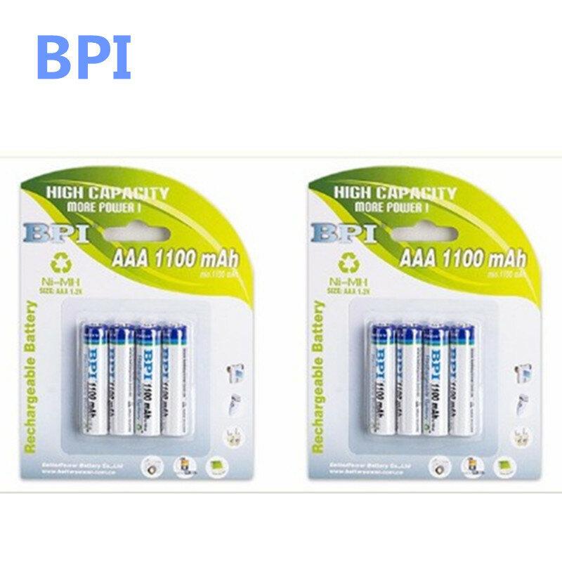 100% authentique carte authentique installée BPI temps spéciaux BPI AAA NiMH batterie rechargeable 1100 mAh