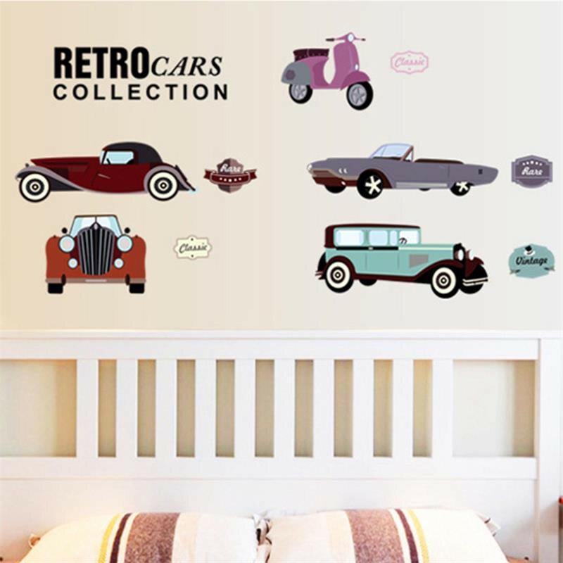 Cartoon autos kind zimmer wand aufkleber für kinder zimmer boy schlafzimmer wand abziehbilder fenster poster 3D auto wand aufkleber tapete