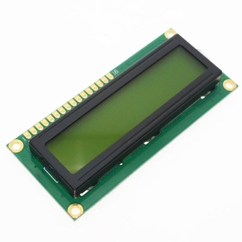 1 pcs lcd1602 1602 모듈 녹색 화면 16x2 문자 lcd 디스플레이 module.1602 arduino 용 5 v 녹색 화면 및 흰색 코드