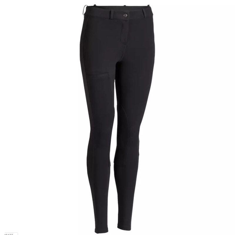 Culotte d'équitation pour femme, doux et respirant, pantalon d'équitation, noir, marron, accessoires scolaires