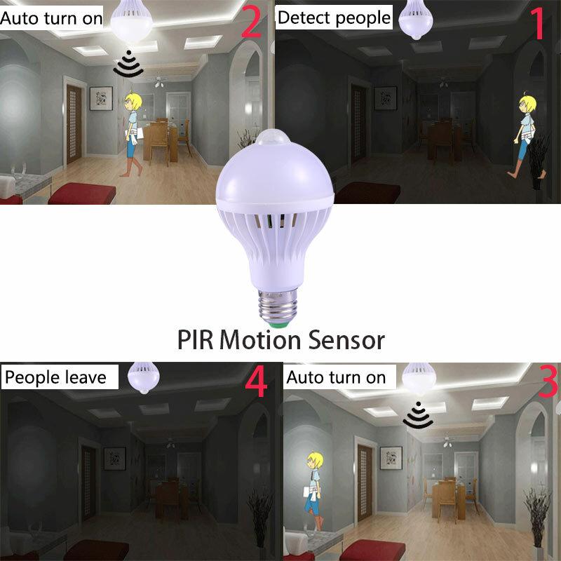 E27 Led-lampe mit Motion Sensor Licht 220V 110V PIR Lampen Smart Lampe Kind Nacht Licht Ampulle Bombillas 5W 7W 9W Hause Beleuchtung