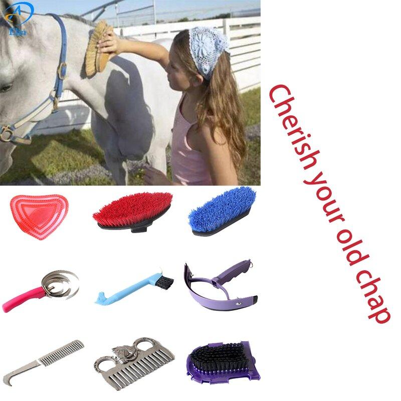 Nuovo 9 in 1 Cavallo Cleanning Strumento con il cavallo grooming kit equestre attrezzature per la pulizia set sellerie Equitazione Cavallo strumenti di Pulizia