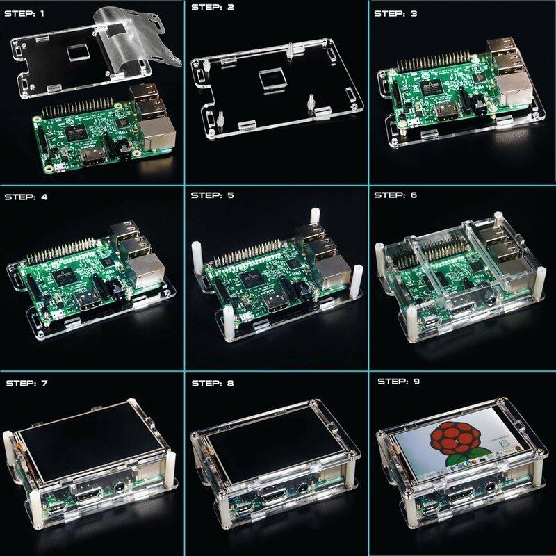 """Display touchscreen TFT LCD da 3.5 """"originale al miglior prezzo per stilo acrilico Raspberry Pi 2 / Raspberry Pi 3 modello B"""