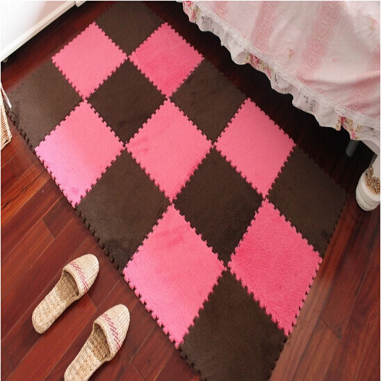 30 cm x 30 cm 1pcs 거실 침실 어린이 부드러운 패치 워크 매트 매직 큐브 미끄럼 방지 카펫 패션 등산 아기