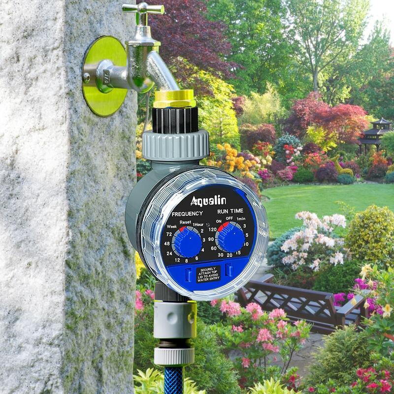 Garten Wasser Timer Ball Ventil Automatische Elektronische Bewässerung Timer Home Garten Bewässerung Timer Controller System #21025