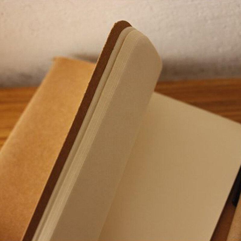 دفتر ملاحظات من ورق جلد البقر ، مفكرة عتيقة ناعمة ، دفتر مذكرات يومية ، غلاف كرافت ، دفتر مذكرات