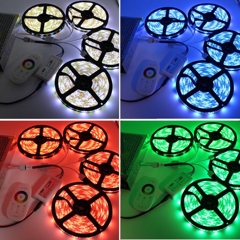 DC12V 5050 LED Streifen Wasserdicht RGB RGBW Led Licht Flexible Band + Touch Remote Controller + 12V Power adapter kit 30M 20M 10M 5M