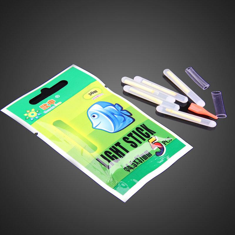 Bâtons lumineux fluorescents pour la pêche de nuit, 50 pièces, luisant dans la nuit, accessoires de pêche, 25mm 37mm