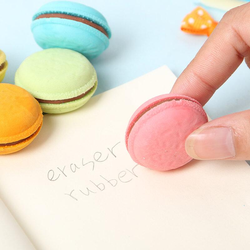 Gommes Macaron caoutchouc 5 pièces/lot, nouveauté, papeterie créative Kawaii, fournitures scolaires, cadeaux pour enfants