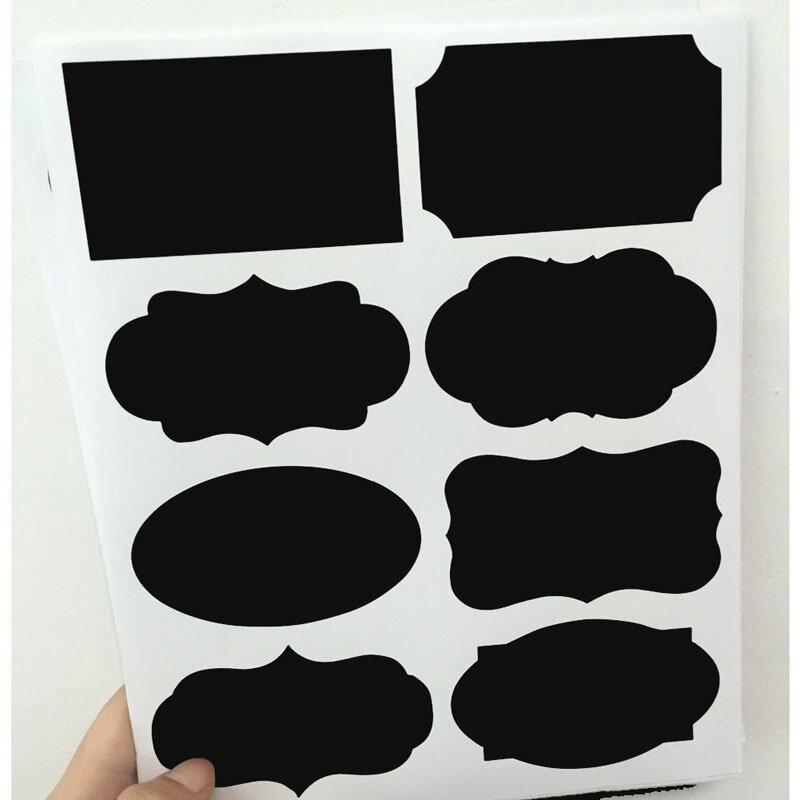40 unids/set pizarra etiquetas para la cocina nueva boda casa cocina frascos pizarra pegatinas decoración de Año Nuevo 20,5*23cm