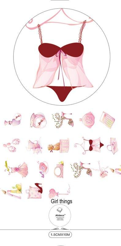 Nastri Washi di carta giapponese Alideco simpatici nastri adesivi per fiori Dreamcatcher decorazione nastri adesivi adesivi cartoleria 15cm * 10m