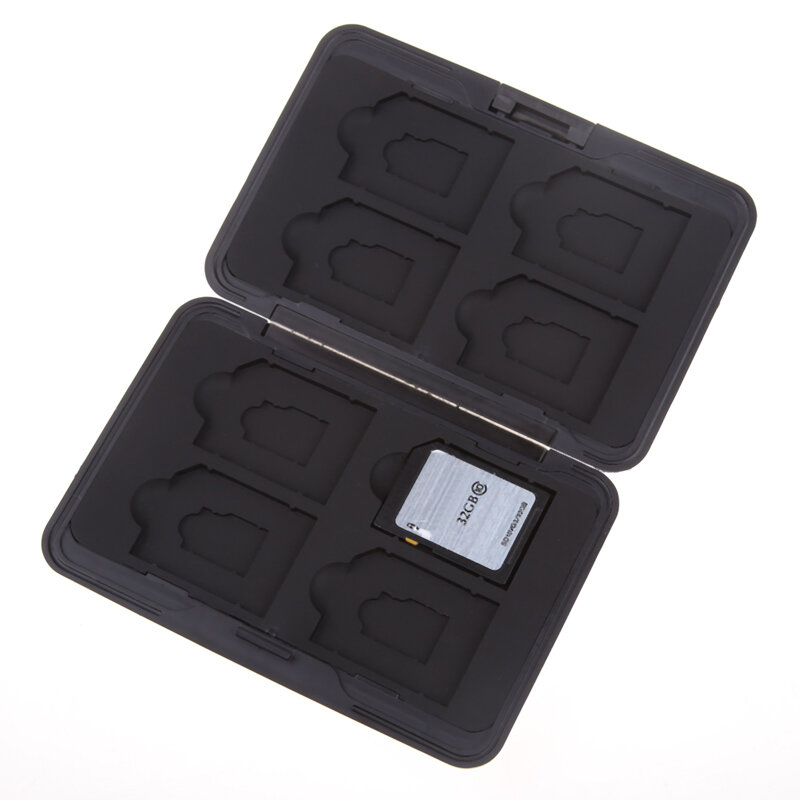 حامل بطاقة Micro SD/SDXC/Micro SD ، حافظة بلاستيكية واقية لـ 16 فتحة لبطاقات SD/ SDHC/ SDXC/Micro SD