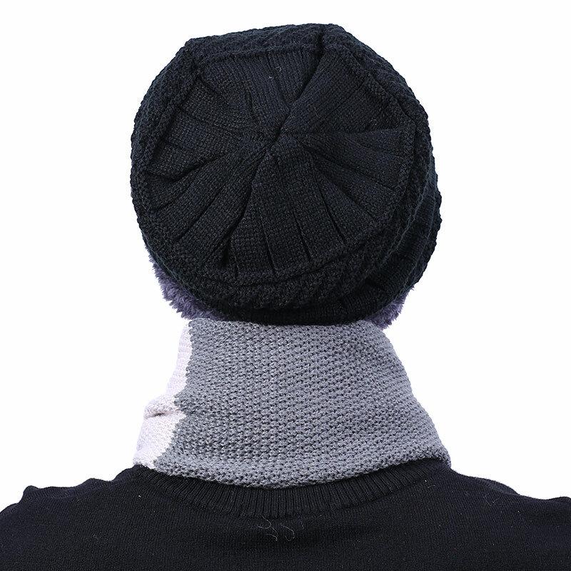 Peekymoce-قبعة شتوية محبوكة للرجال والنساء ، قبعة ، وشاح ، قبعات ، قبعات ، قبعة ، كاجوال ، تدفئة للرقبة