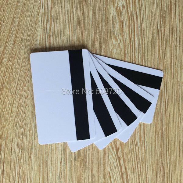 10Pcs PVC พลาสติกเปล่าสีขาวการ์ด30Mil LoCo บัตรแม่เหล็ก Mag Stripe พิมพ์สำหรับเครื่องพิมพ์บัตร CR80