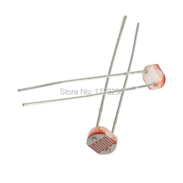 20 pz/lotto GL5516 5516 Dipendente Dalla Luce del Resistore LDR 5 MM Fotoresistore Trasporto Libero