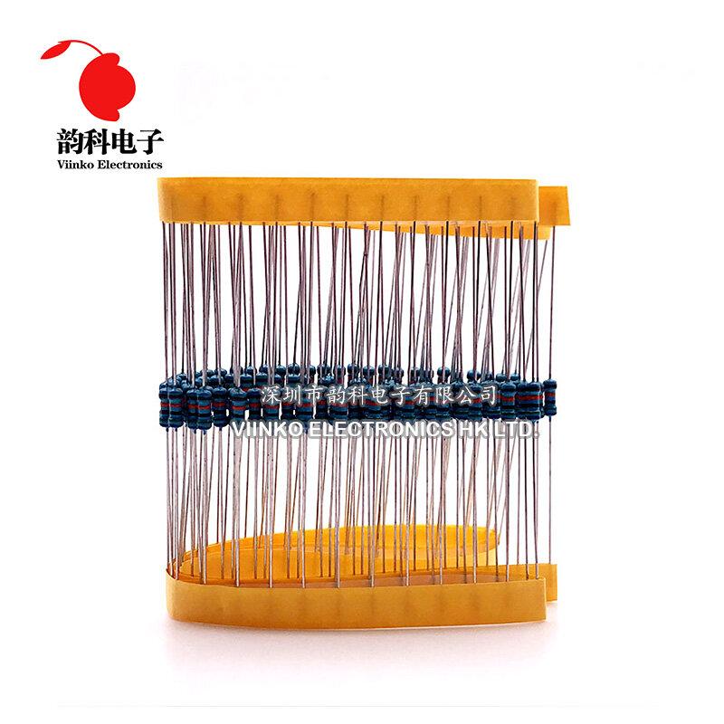 100 stücke 1k ohm 1/4W 1k Metall Film Widerstand 1kohm 0,25 W 1% ROHS