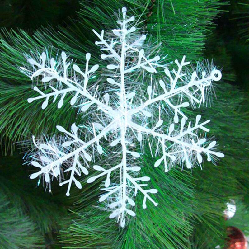 30 Teile/los Weiß Künstliche Schneeflocke Weihnachten Christbaumschmuck Festival Party Weihnachten Home Decor Dia 10 cm Drop Shipping
