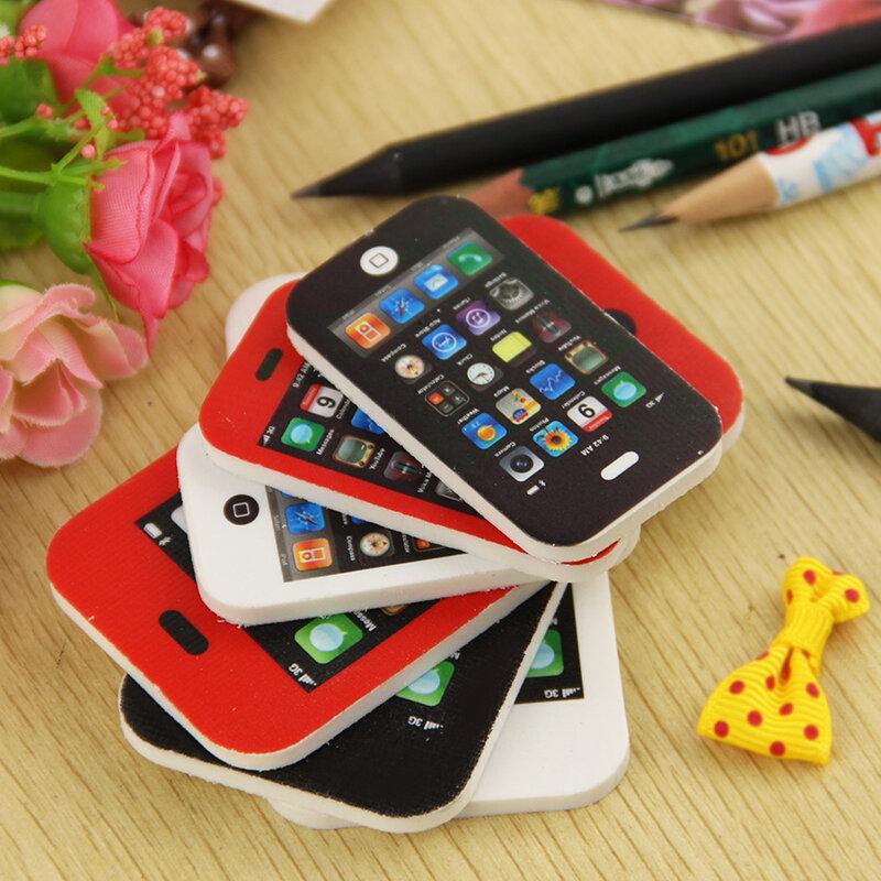 Borrador de teléfono de nueva forma, regalo para niños, papelería dulce, suministros escolares de oficina