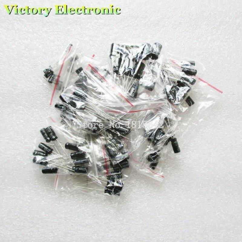 120 teile/los 12 werte 0,22 UF-470 UF aluminium-elektrolyt-kondensator sortiment kit set pack
