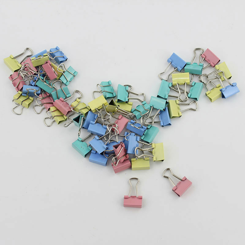 60 Teile/los Bunte Metall Binder Clips Papier Clip 15mm Büro Schule Schreibwaren Bindung Lernen Liefert Farbe Zufällig