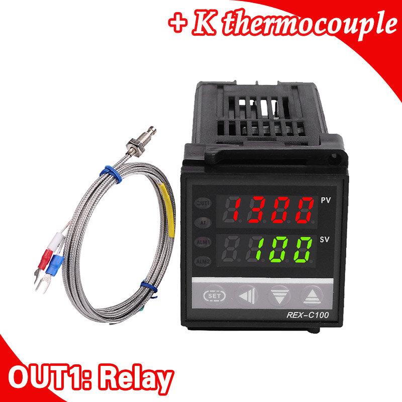 المزدوج الرقمية فالفيك pid تحكم REX-C100 مع الاستشعار الحرارية k ، تتابع الانتاج