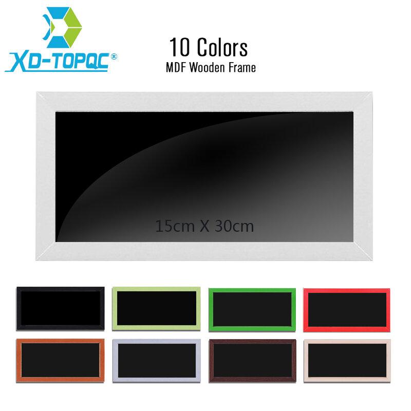 XINDI 새로운 작은 자기 나무 칠판 노트 MDF 프레임 15*30cm 홈 장식 메모 분필 보드 무료 배송