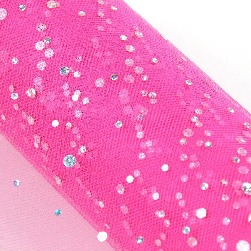 FENGRISE Glitter Pailletten Tüll Rolle 10 25 yard 15cm Spool Tutu Hochzeit Dekoration Organza Laser DIY Handwerk Geburtstag Party liefert