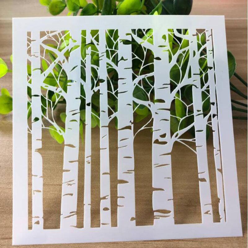 1 pz stencil foresta fatta a mano fai da te Scrapbooking diario colorazione goffratura modello di pittura decorativo Graffiti righello riutilizzabile