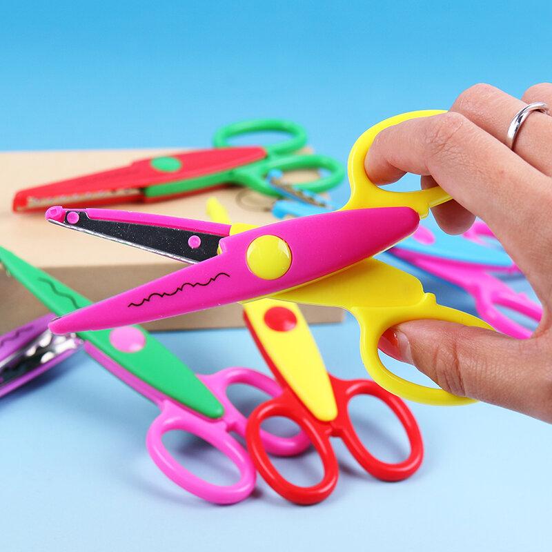 1PC Heißer Verkauf Kinder Schere für DIY Handgemachte 6 Muster Laciness Schere für Fotoalbum Karte Dekorative DIY Schere