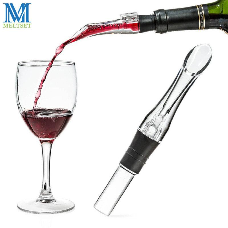 Meltset 1PC อะคริลิค Aerating Pourer เหล้าไวน์ Aerator Spout Pourer ใหม่แบบพกพา Wine Aerator Pourer ไวน์อุปกรณ์เสริม