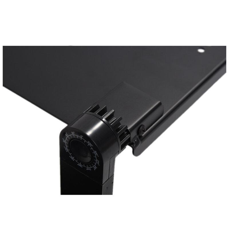 휴대용 접이식 조절 노트북 책상 컴퓨터 테이블 스탠드 트레이 소파 침대 블랙