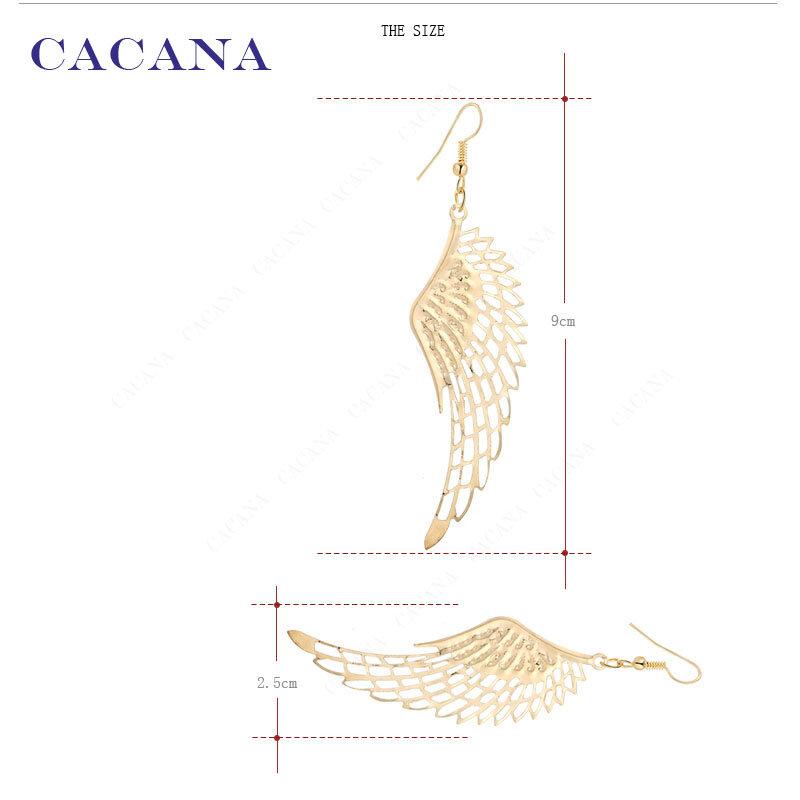 أقراط الكاكاو تتدلى الأقراط الطويلة مع أعلى جودة الجناح الكبير للنساء بيجو رائجة البيع
