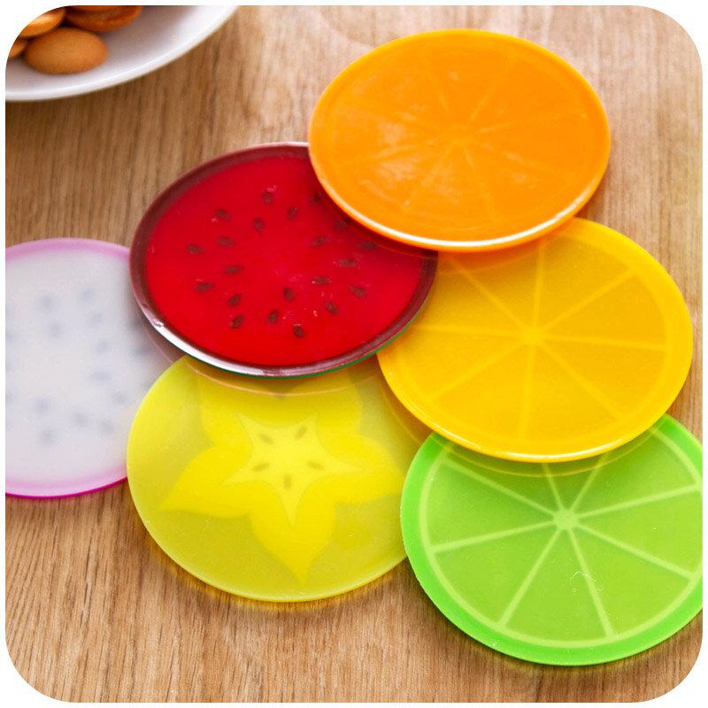 6 pezzi di frutta fresca sottobicchiere novità posizionamento per tazze tazza decorazione della tavola articoli di cancelleria accessori per ufficio materiale scolastico A5187