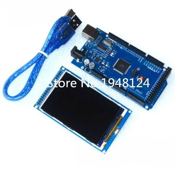 ¡Envío gratis! Módulo de pantalla LCD TFT de 3,5 pulgadas Ultra HD 320X480 para Arduino + placa MEGA 2560 R3 con cable usb