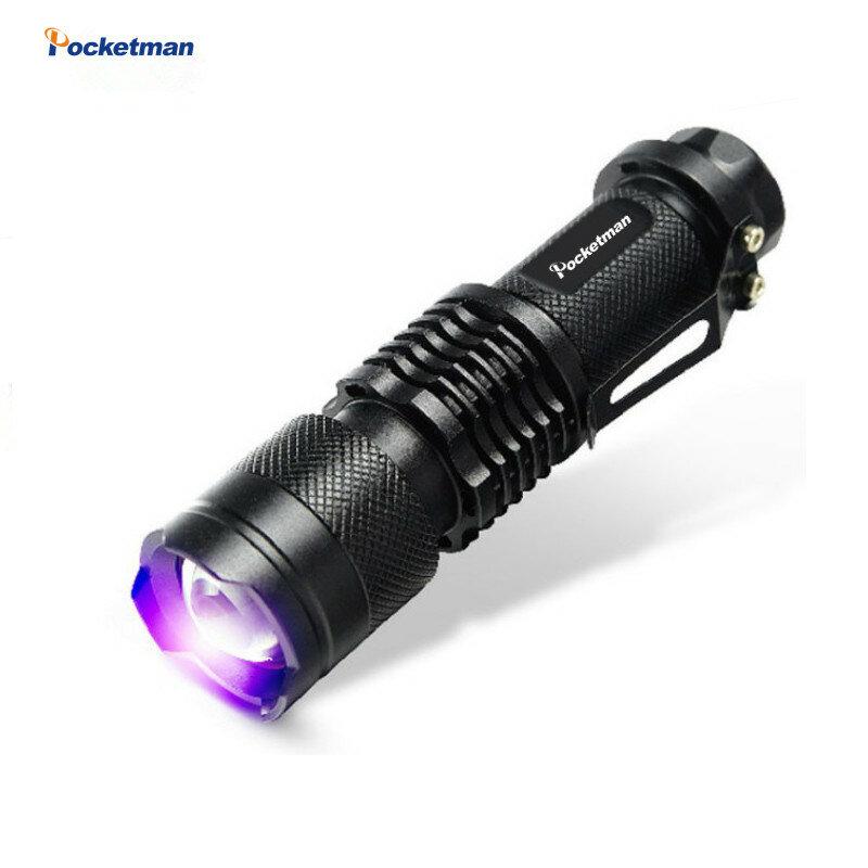 2018 جديد Pocketman LED UV مصباح يدوي SK68 الأرجواني البنفسجي ضوء الأشعة فوق البنفسجية 39nm الشعلة مصباح شحن مجاني