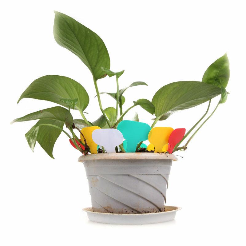 100 pz/lotto Riutilizzabile T-tipo di Plastica Vegetale Etichette di Fiore di Spessore Tag Giardino Vasi di Vivai Mark per la Decorazione del Giardino Fioriere