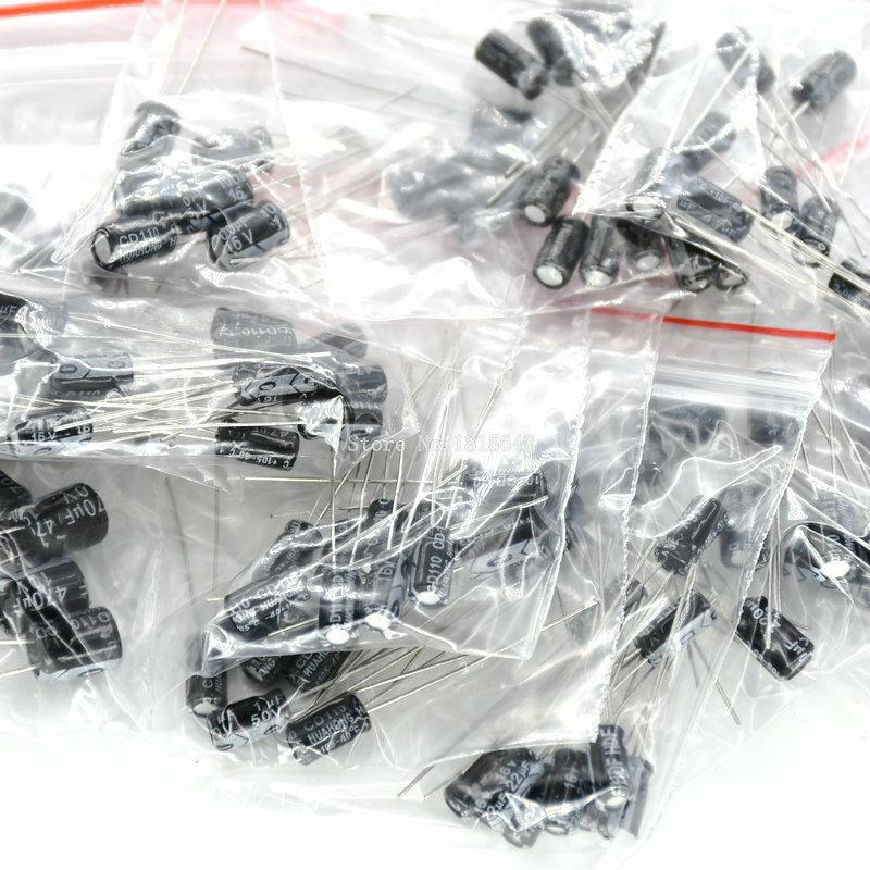 120 pz/lotto 12 valori di 0.22 UF-470 UF Alluminio condensatore elettrolitico assortimento kit set pacchetto