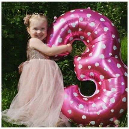 بالون بأرقام 32 بوصة ، زينة عيد الميلاد الأول ، للأطفال ، 30 رقمًا ، ذهبي ، لحفلات التخرج ، لحفلات الزفاف ، 2020