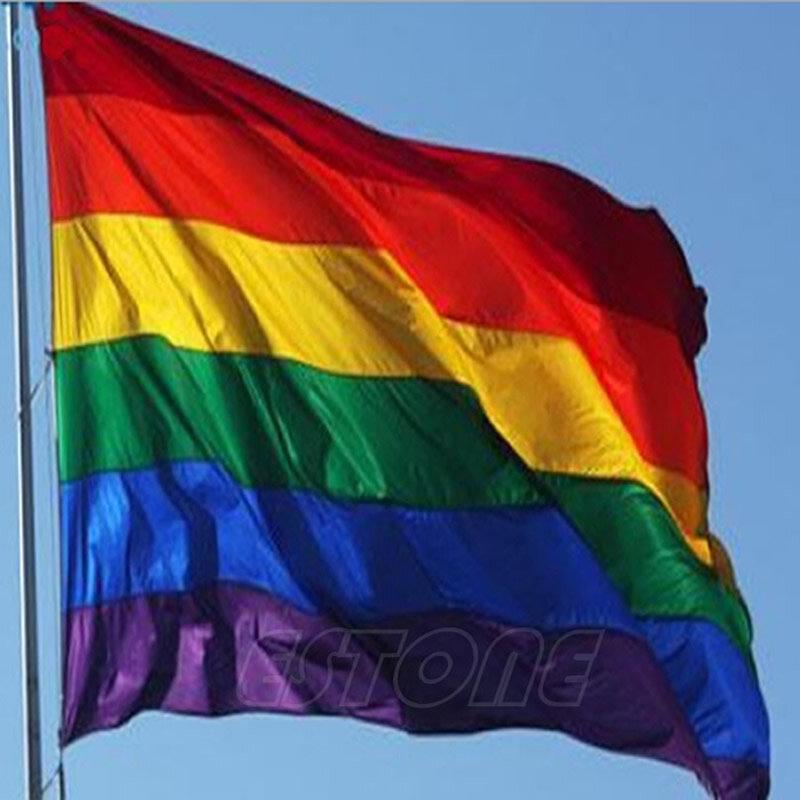 حار بيع قوس قزح العلم 3x5 قدم 90x150 سنتيمتر البوليستر مثليين المثليين فخر LGBT للديكور-S127