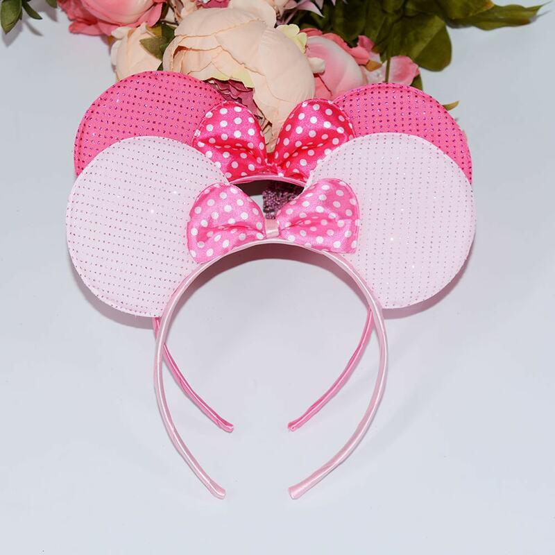 1 pz Belle Ragazze Archi Knot Minnie Mickey Orecchie Bambino Accessori per Capelli Fascia Bambini Ragazzi Buon Compleanno Festa Di Natale Hairbands