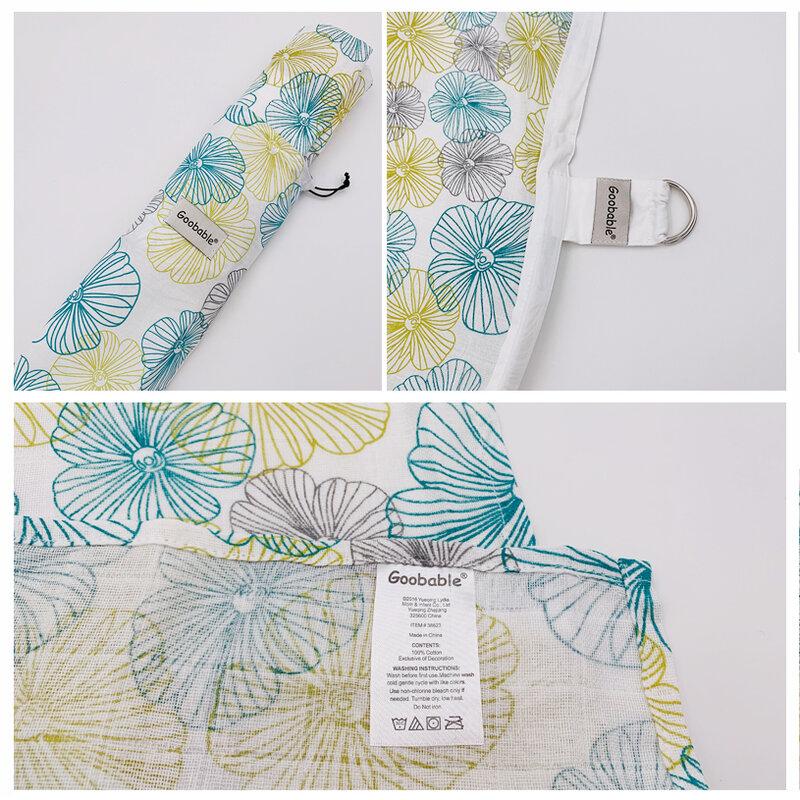 غطاء الرضاعة الطبيعية قطن موسلين مسامي للرضع والرضع ، مقاس كبير L ، غطاء الرضاعة ، مريلة الرأس ، 70 × 100